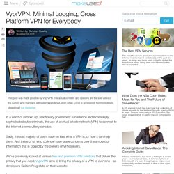 VyprVPN: Minimal Logging, Cross Platform VPN for Everybody