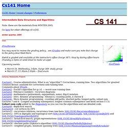 W'05 cs141: Cs141 Home