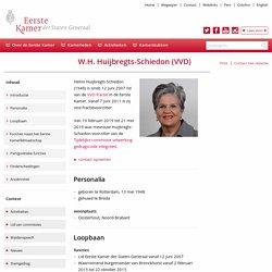 Eerste Kamer der Staten-Generaal - W.H. Huijbregts-Schiedon (VVD)