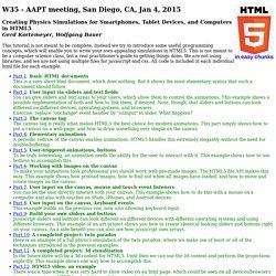 W35 - AAPT meeting, San Diego, CA, Jan 4, 2015