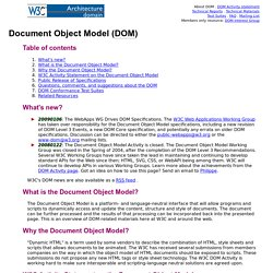 W3C Document Object Model