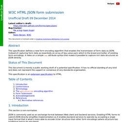 W3C HTML JSON form submission