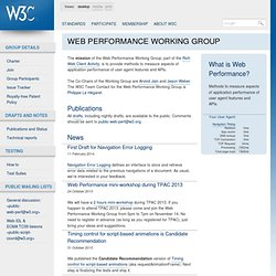 C Web Performance Working Group