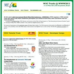 C Tracks@WWW2013, Brazil, 13-16 May 2013