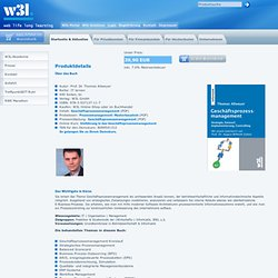 Bücher: Geschäftsprozessmanagement - W3L-Akademie