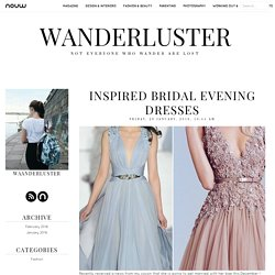 Inspired Bridal Evening Dresses