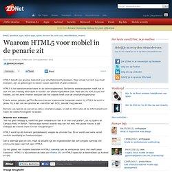 Waarom HTML5 voor mobiel in de penarie zit