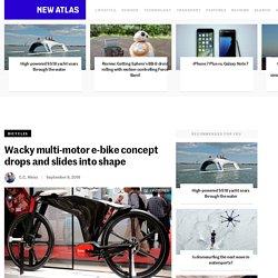 Wacky multi-motor e-bike concept drops and slides into shape