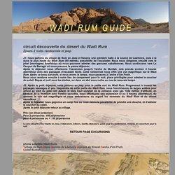 Guide Wadi Rum : Mafleh*