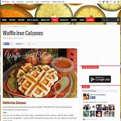 Waffle-Iron Calzones