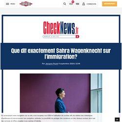 (2) Que dit exactement Sahra Wagenknecht sur l'immigration?