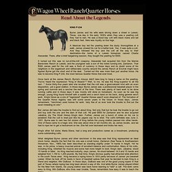 WAGON WHEEL RANCH Quarter Horses - READ ABOUT THE LEGENDS