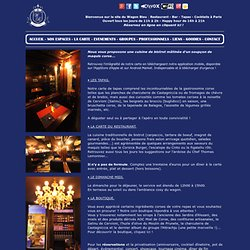 Le Wagon Bleu - Restaurant - Bar Tapas Cocktails - Paris