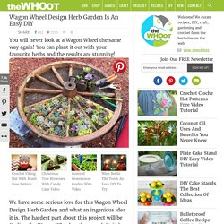 Wagon Wheel Design Herb Garden Is An Easy DIY
