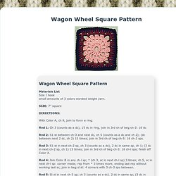 Wagon Wheel Square Pattern