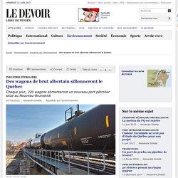 Des wagons de brut albertain sillonneront le Québec