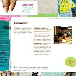 wahaca - mexican market eating