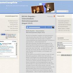 » DD246: Dispathie – Unterschiedliche Wahrnehmungsweisen (August 2015)