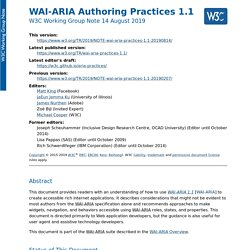 WAI-ARIA Authoring Practices 1.1