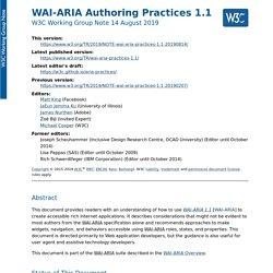 WAI-ARIA Authoring Practices 1.1
