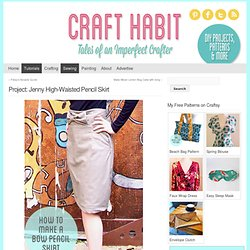 High-Waisted Pencil Skirt with Bow : CraftHabit.com