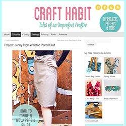 High-Waisted Pencil Skirt with Bow