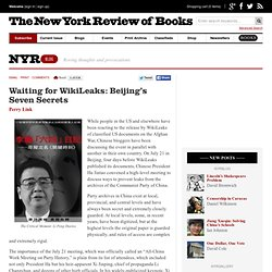 Waiting for WikiLeaks: Beijing's Seven Secrets