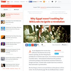 Why Egypt wasn't waiting for WikiLeaks to ignite a revolution