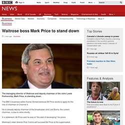 Waitrose boss Mark Price to stand down - BBC News