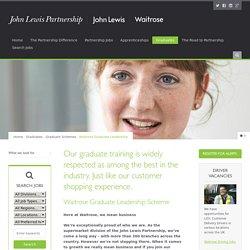 Waitrose Graduate Leadership Scheme