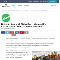 the world's first ad-supported car-sharing program