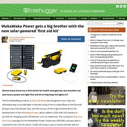 WakaWaka Power gets a big brother with the new solar-powered 'first aid kit'