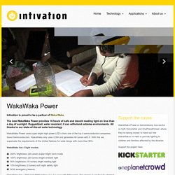 WakaWaka Power Mobile Solar Solutions - Portable Solar Power -Intivation