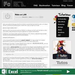 Wake on LAN depuis internet (wake on wan)