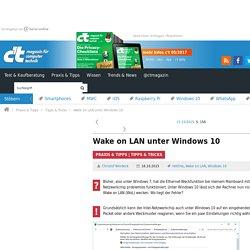 Wake on LAN unter Windows 10