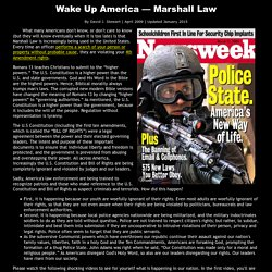 Wake Up America — Marshall Law