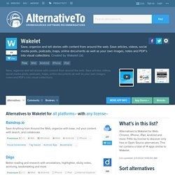 Wakelet Alternatives and Similar Apps and Websites