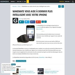 WakeMate vous aide à dormir plus intelligent avec votre iPhone -