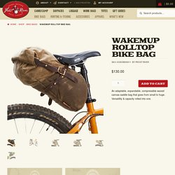 Wakemup Rolltop Bike Bag - Frost River