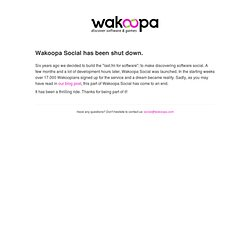 Wakoopa - Discover software & games