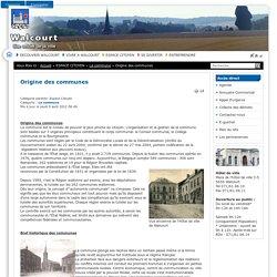 Ville de Walcourt - Origine des communes