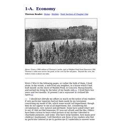 Walden - Chapter 1-A