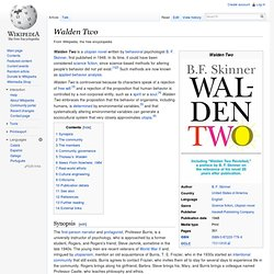 a literary analysis of walden two by b f skinner Find all available study guides and summaries for walden two by b f skinner if there is a sparknotes, shmoop, or cliff notes guide, we will have it listed here.