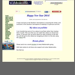 Waldomaths - mathematical applets and videos for 11- to 19-year-olds
