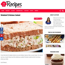 Waldorf Chicken Salad – Easy Recipes