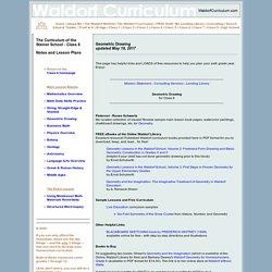 Waldorf Curriculum - Geometric Drawing