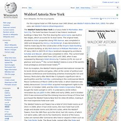 Waldorf Astoria New York