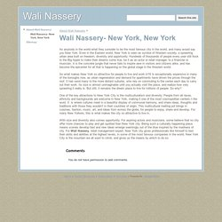 Wali Nassery- New York