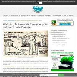Walipini, la terre souterraine pour cultiver toute l'année - Aquaponie France