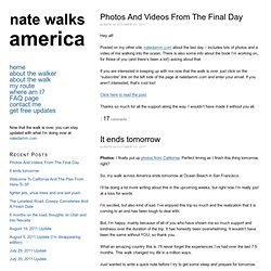 Walk Across America – Nate Walks America